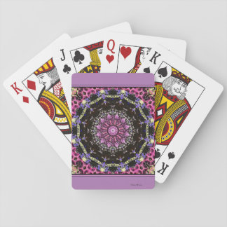 Victorian Magenta Playing Cards