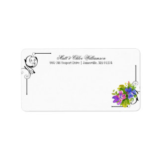 Victorian Mailing Labels with Floral Accents