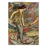 Victorian Mermaid Art by H J Ford Greeting Card
