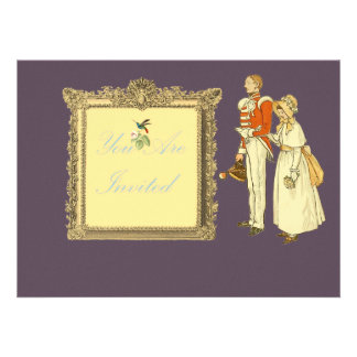 Victorian Military Officer and Lady Personalized Invite