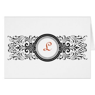 Victorian - Monogram Note Cards