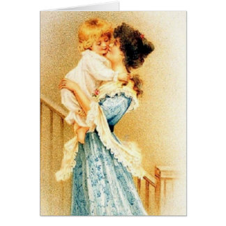 Victorian Mother And Child Mother's Day Card