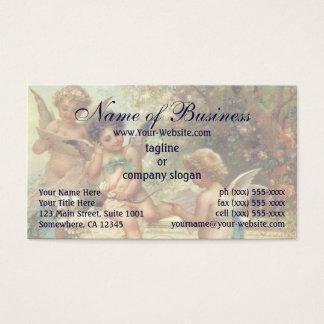 Victorian Music Angels by Hans Zatzka Business Card