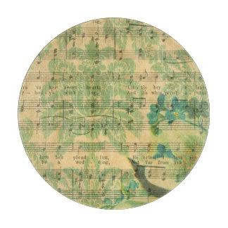 Victorian Music Sheet Wallpaper Cutting Board