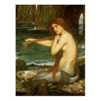 Victorian Mythology Art, Mermaid by JW Waterhouse Postcard