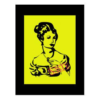 Victorian Nasty Woman Postcard