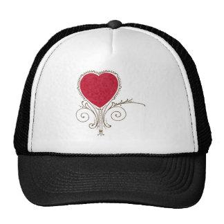 Victorian Nouveau Valentine Heart Mesh Hat