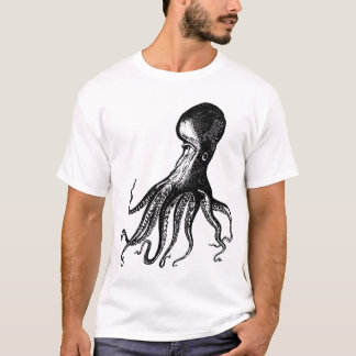 Victorian Octopus Kraken for Steampunk Pirates T-Shirt