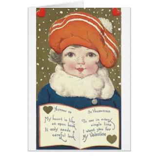 Victorian Open Book Valentine's Day Card