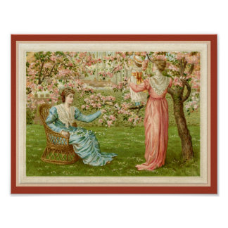 Victorian Orchard in Springtime Wall Art
