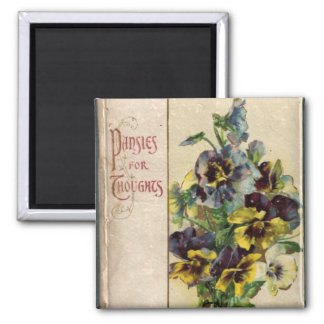 Victorian Pansies Book Cover Magnet