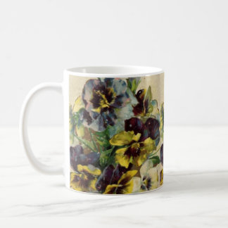 Victorian Pansies Coffee Mug