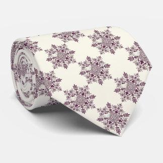 Victorian pattern burgundy tie