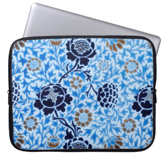 Victorian Pattern In Blue Laptop Sleeve