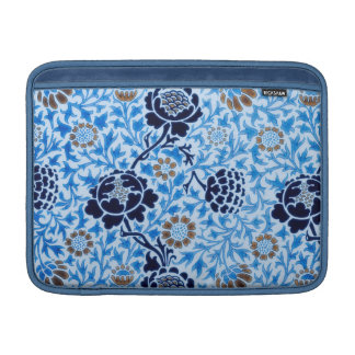 Victorian Pattern In Blue MacBook Sleeve