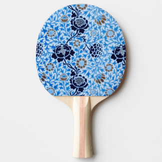Victorian Pattern In Blue Ping Pong Paddle