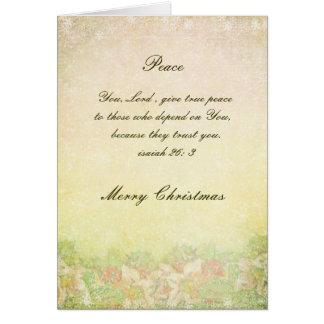 Victorian Peace Christmas Card
