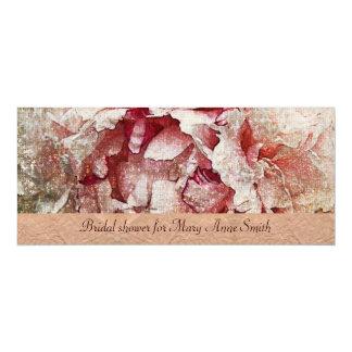 Victorian Pink peony Bridal Shower invitation