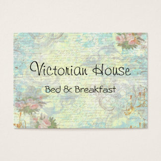 Victorian Pink Roses Business Cards