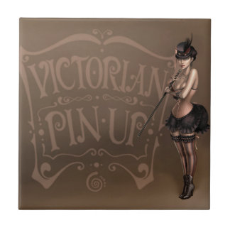 Victorian pinup girl tile