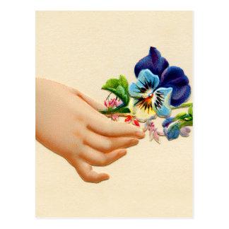 Victorian Posies Embossed Greeting Card Flowers