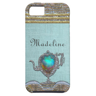 Victorian Pretty Teapot Girly Monogram iPhone 5 Cases