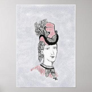 Victorian Profile Poster