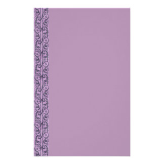 Victorian Purple Floral Custom Stationery