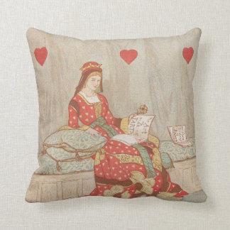 Victorian Queen of Hearts 1900's Valentine Cushion
