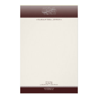 Victorian Red Red Wine Customized Stationery