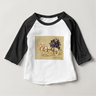 Victorian Retro Vintage Easter Greetings Baby T-Shirt