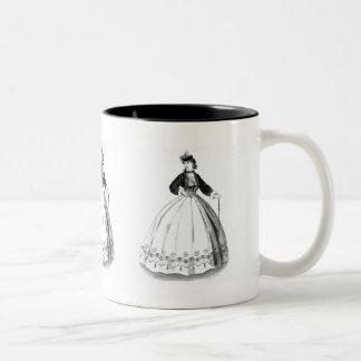 """Victorian Robe Dress"" Two-Tone Mug"