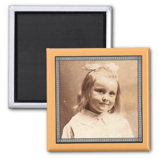 Victorian Roman Border Photo Frame Square Magnet