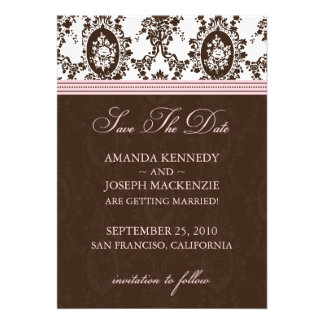 Victorian Romance Save The Date Announcement