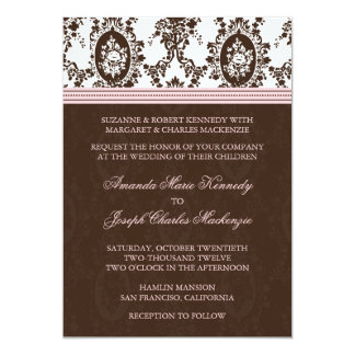 Victorian Romance Stylish Wedding Invitation