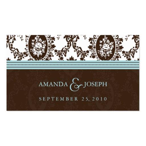 Victorian Romance Wedding Website Business Cards