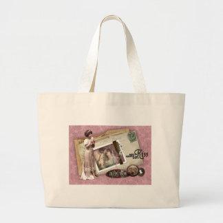 Victorian Romantic Love Letters Jumbo Tote Bag