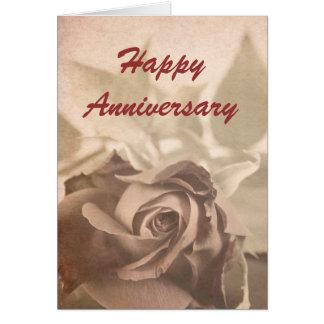 Victorian rose - Anniversary card