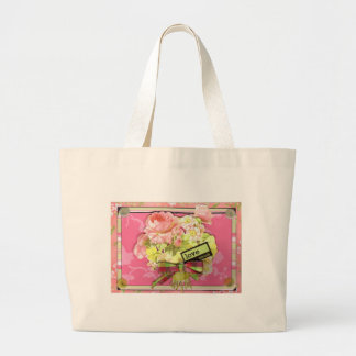 victorian rose tote bags