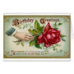 Victorian Rose Birthday Greeting Card