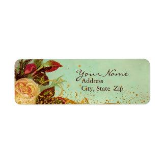 Victorian Rose Elegant Labels