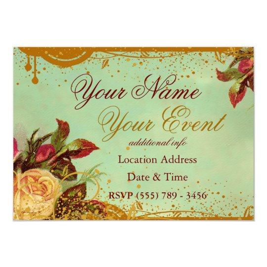Victorian Rose Fancy Invitation Announcement