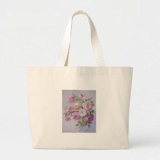 Victorian rose jumbo tote bag