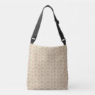 Victorian Rose Pattern Cross Body Bag