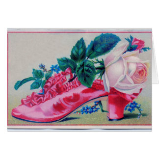 Victorian Rose Shoe Stationery Note Card
