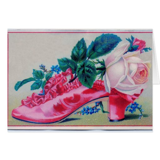 Victorian Rose Shoe Cards