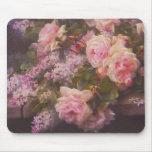 Victorian Roses and Lilacs Mousepad