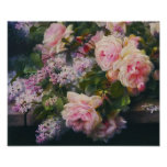 Victorian Roses and Lilacs Poster