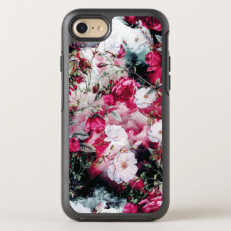 Victorian Roses Floral pink mauve white black OtterBox Symmetry iPhone 8/7 Case