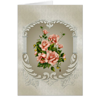 Victorian Roses Note Card